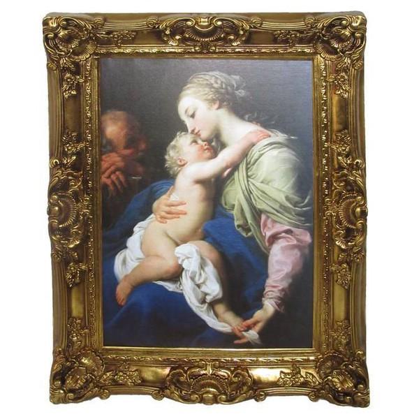 Quadro Clássico - The Sacred Family By Pompeo Girolamo Batoni - Musei Capitolini (rome)