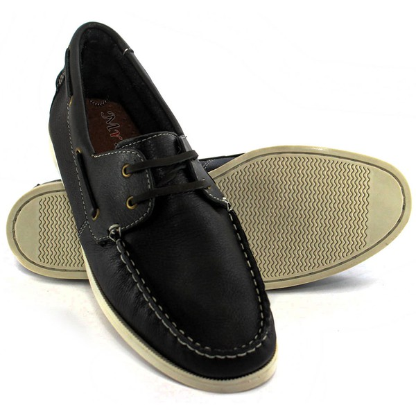 Dockside Couro Floater Latego Preto Preto