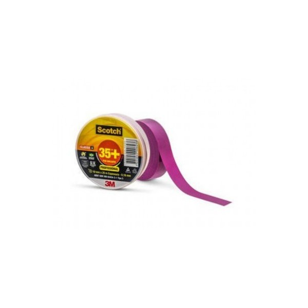 Fita Isolante Scotch 35+ Violeta 19 mm x 20 m - 3M
