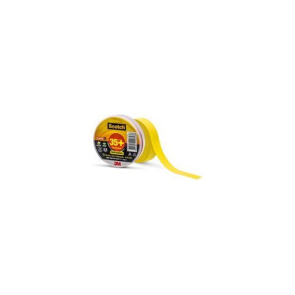 Fita Isolante Scotch 35+ Amarela 19 mm x 20 m - 3M