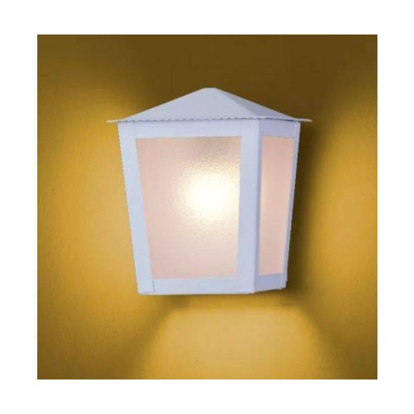Arandela Colonial Quadrada Branco Ideal