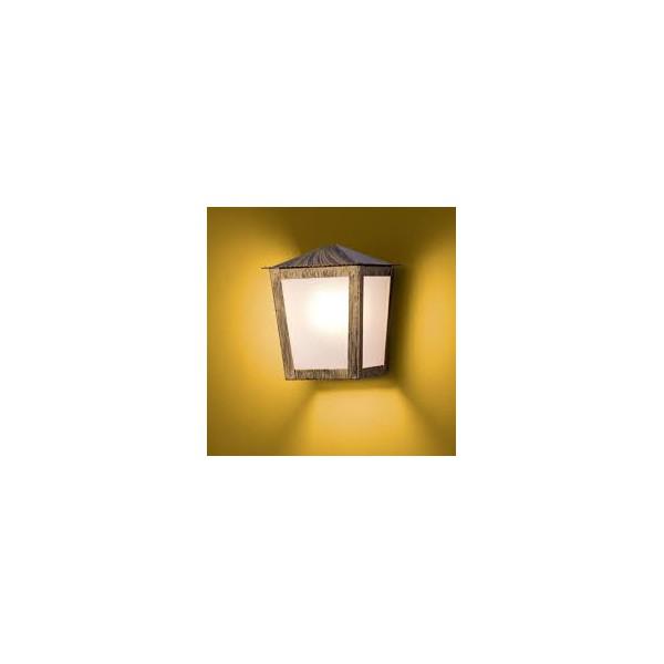 Arandela Colonial Quadrada Ouro Velho Ideal
