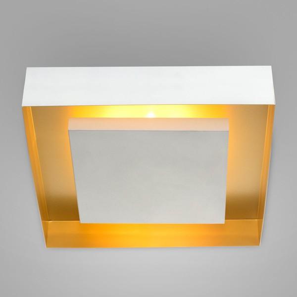 Plafon Eclipse Branco Ouro Mate Itamonte