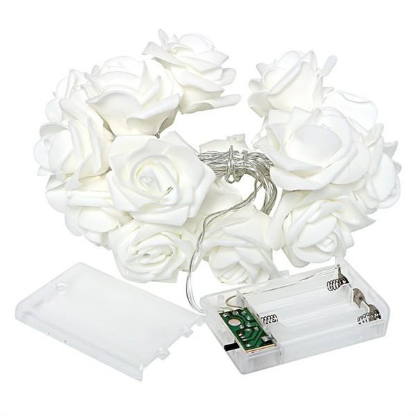 Cordão De Luz Varalzinho LED Rosas Branco Cromus