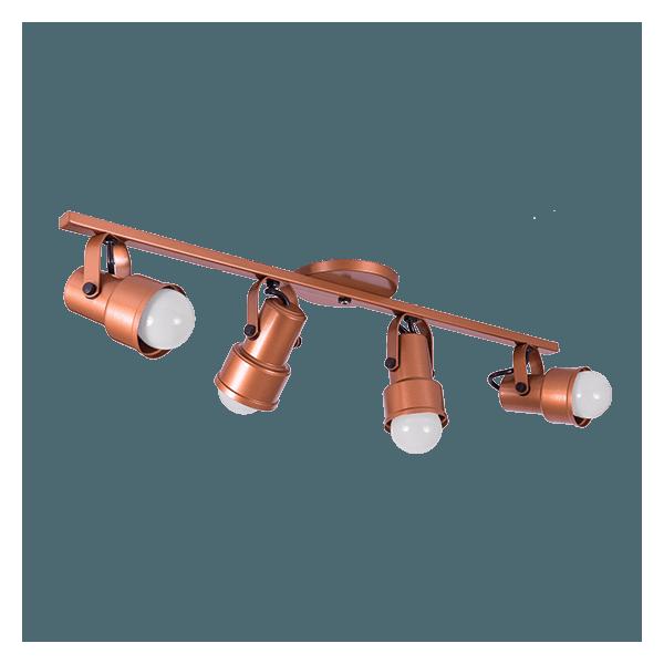 Spot Trilho 4 Lampadas Incolustres