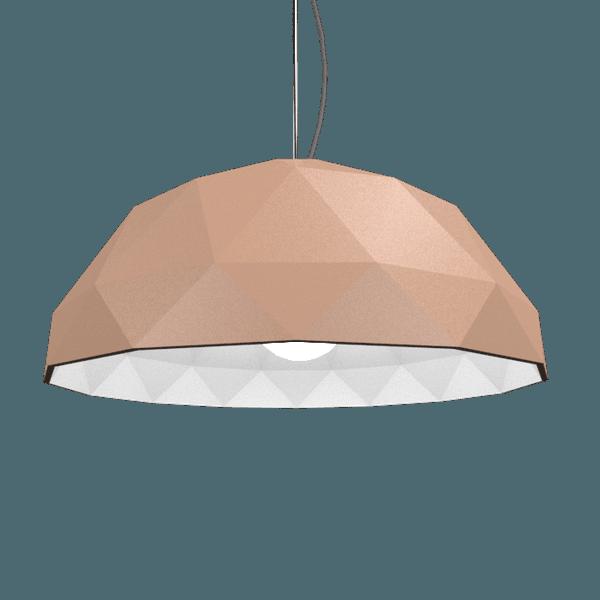 Pendente Meia Bola Facetada Bronze 50Cm - Accord Iluminação