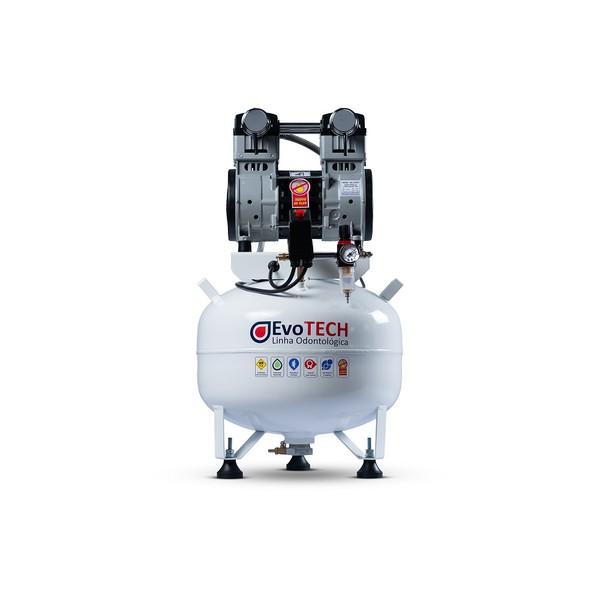 COMPRESSOR ODONTOLÓGICO 40 LTS 2HP - 10 PCM - 290 LTS/MIN 127V-60HZ EVOTECH