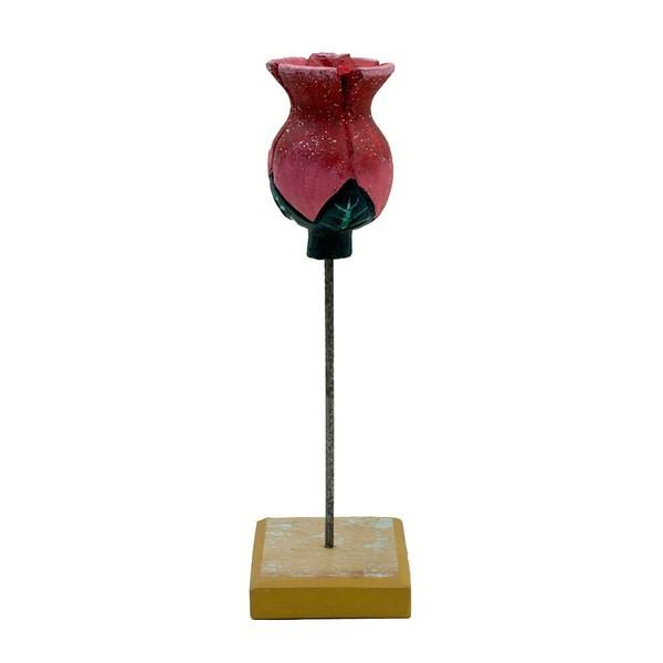 Escultura de Tulipa na Base