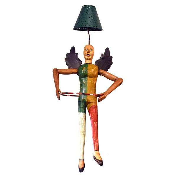 Luminária com Escultura de Ginasta Anjo