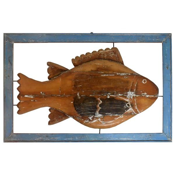 Painel Grande de Escultura de Peixe