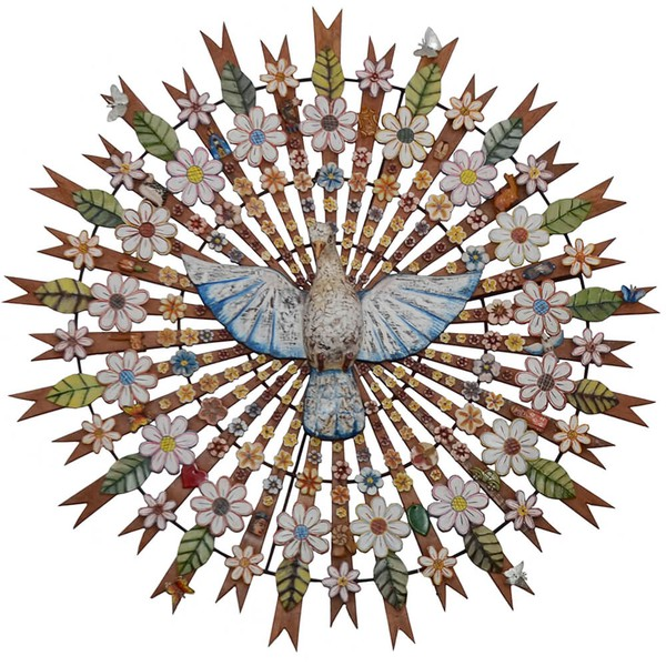 Divino Espírito Santo Resplendor com Recortes de Flores 1,50 m.