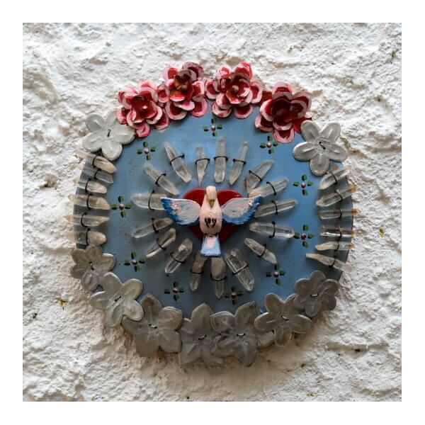 Divino Espírito Santo Mandala com Cristais 2_ Coleção Toti