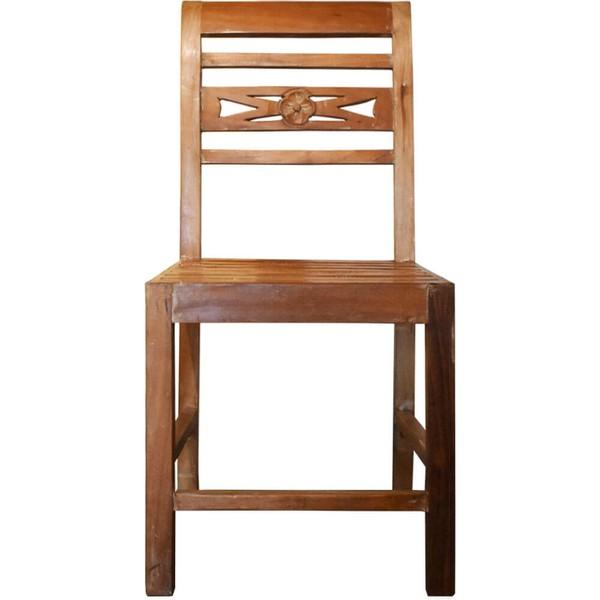 Cadeira Encosto Talha Flor