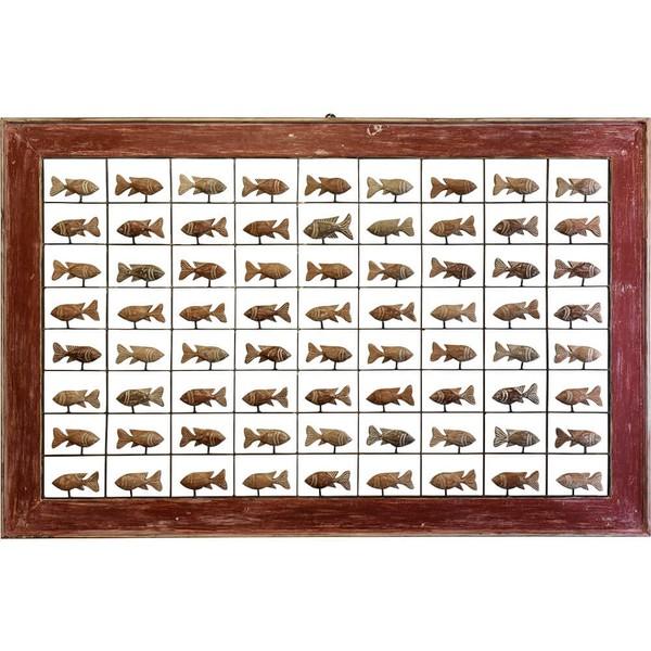 Painel Grade de Peixes - 72 pçs