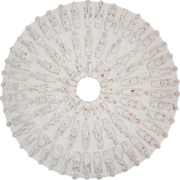 Painel Mandala de Corpos Brancos