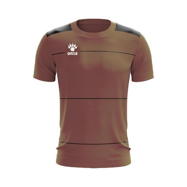 Camisa Jogo - Marrom com detalhe de listra no peito