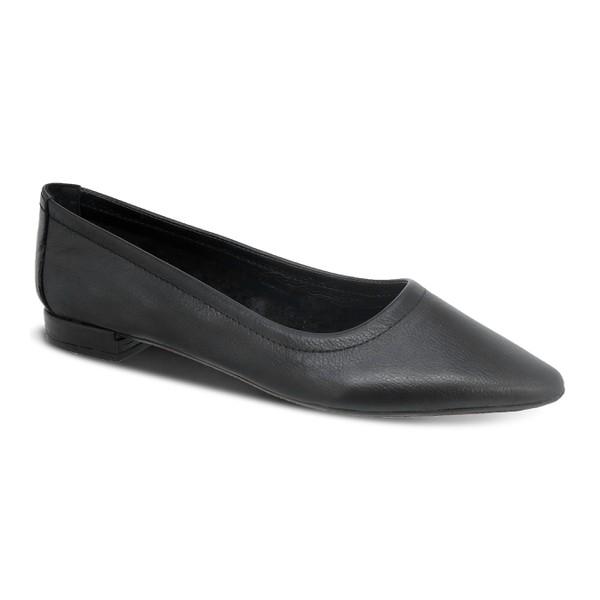 Flat Comfort Bico Fino preto - Salto 1,5 Cm