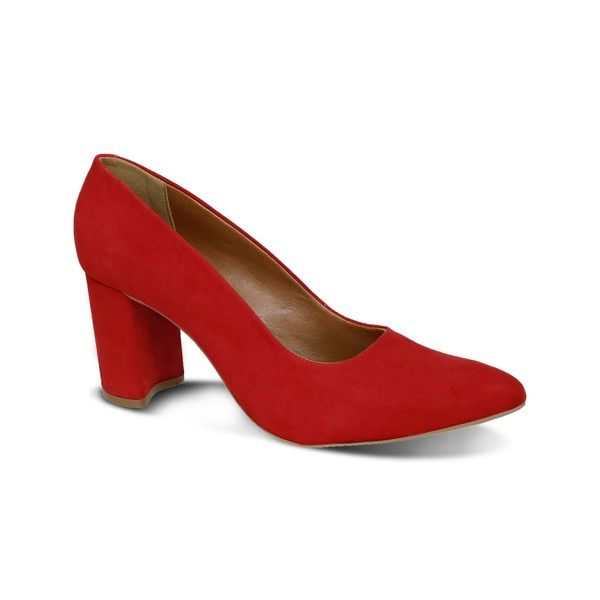 Scarpin Basic Vermelho - Salto 8 Cm