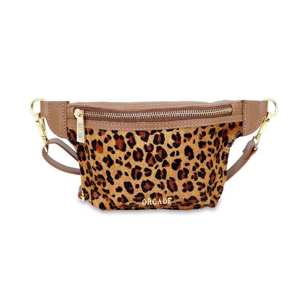 Belt Bag em Couro Croco Pelo Onça