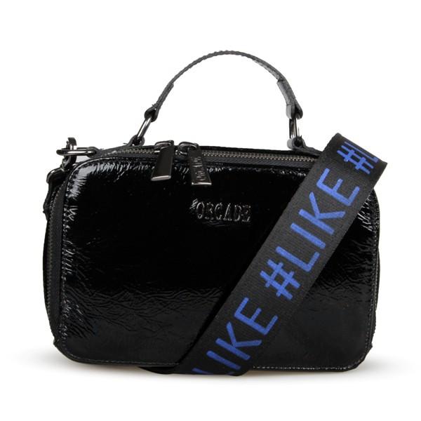Shoulder Bag #like em Couro Preto