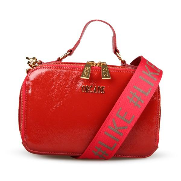 Shoulder Bag #like em Couro Vermelha