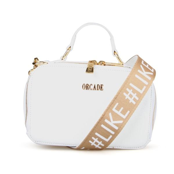 Shoulder Bag #like em Couro Branca
