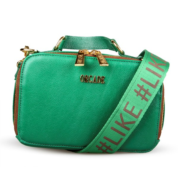 Shoulder Bag #like em Couro Verde