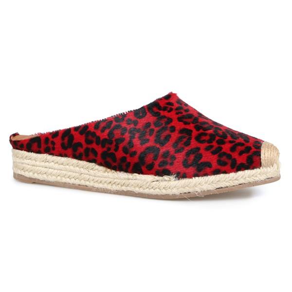 Mule Alpargatas Jaguar Vermelho - Salto 2,5 Cm