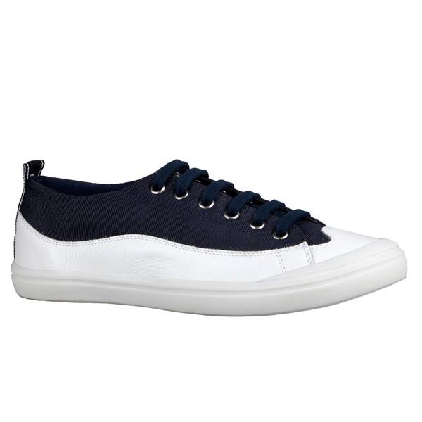 Tênis Pedrina Desenho Onda Branco/ Azul