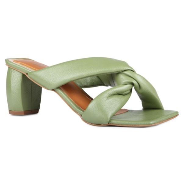 Sandália Aimée Puff Comfy Tira Entrelaçada Siciliano Salto 6,5 cm
