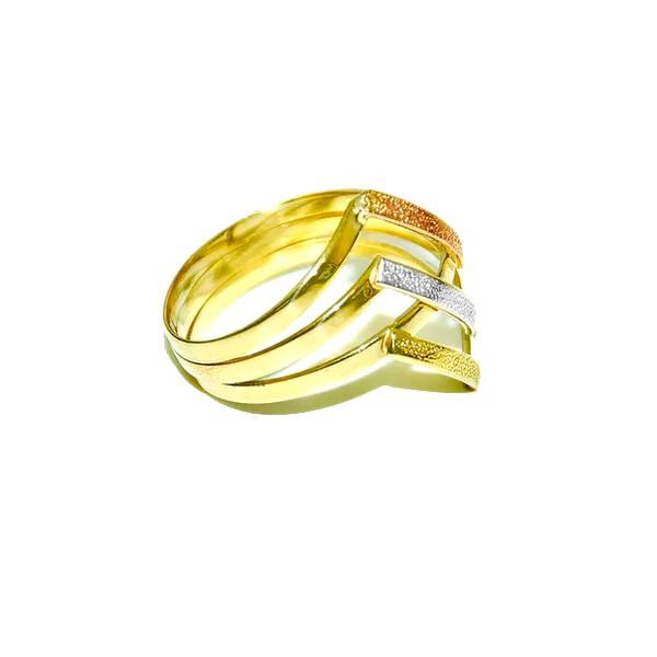 Anel Tricolor em Ouro 18k