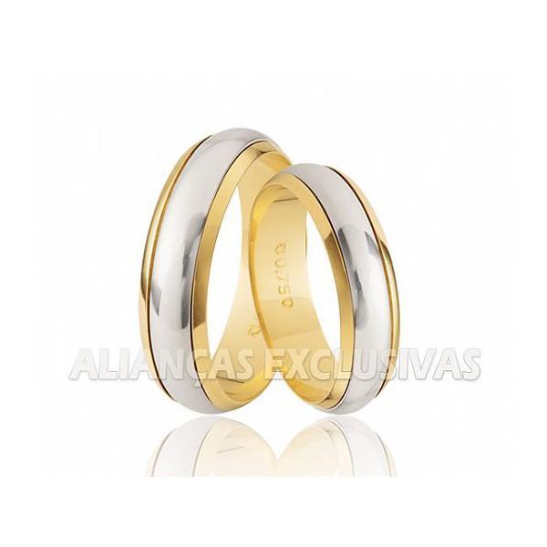 Alianças Bodas de Casamento em Ouro 18k (750)