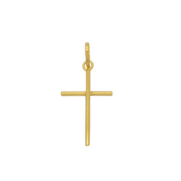Pingente Cruz Palito Pequena Ouro 18k