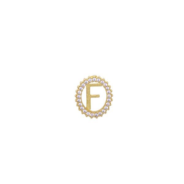 Pingente Letra Oval em Ouro 18k
