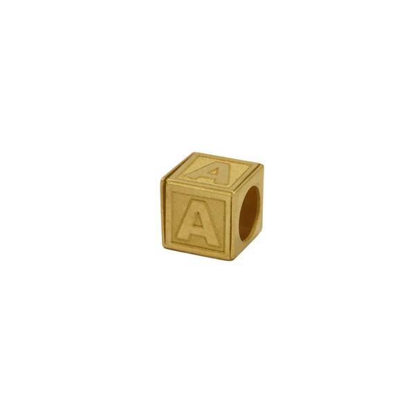 Pingente Cubo Letra em Ouro 18k
