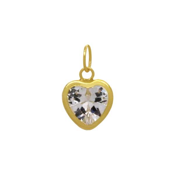 Pingente de Coração em Ouro 18k