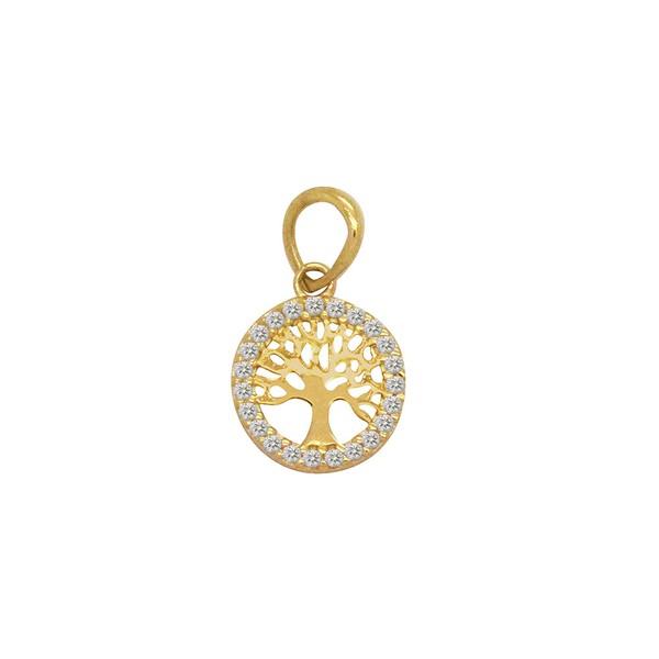 Pingente Mandala Árvore da Vida em Ouro 18k