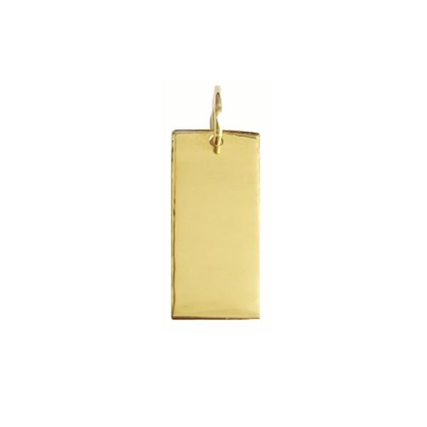 Pingente Placa em Ouro 18k
