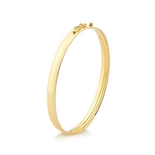 Bracelete Infantil Oco 35x45 Ouro 18k