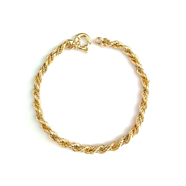 Pulseira Tricolor ( 3 tons) Ouro 18k