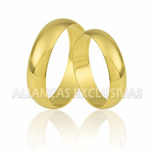 Aliança Tradicional em Ouro 18k