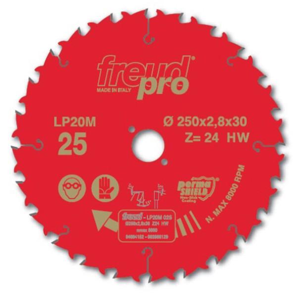 Disco de serra circular 250 X 24z C:2,8 L: 1,8 F: 30mm - Freud