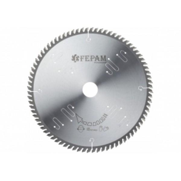 Disco de serra circular 250 mm X 80 dentes 10'' 35º F.30 Fepam
