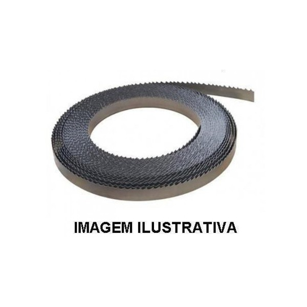 Serra Fita 1 '' Polegada (25mm) Lâmina para Espuma Cortec - Dentada 2 lados - por metro