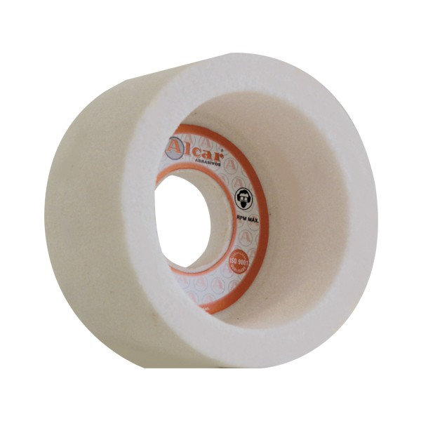 Rebolo formado Copo Reto Face A (ACR) - Afiação aço de alta dureza