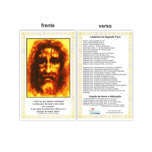 Cartão Postal Sagrada Face 10x15