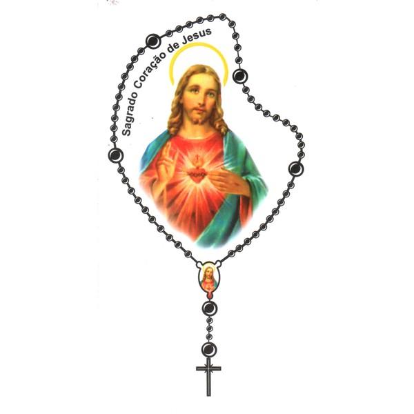 Adesivo Terço Médio Sagrado Coração de Jesus