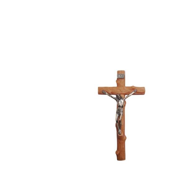 Crucifixo Resina com Cristo Metal 18cm