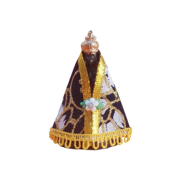 Imagem de Nossa Senhora Aparecida com Manto 7,5cm