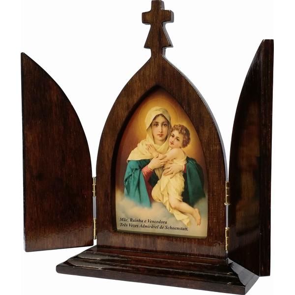 Capela Mãe Rainha 19cm com Porta